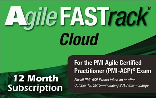 10. PMI-ACP - Agile FASTrack Cloud - Exam Simulator - Version 2 - 12 Month
