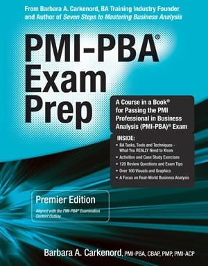 13. PMI-PBA Exam Prep, 1st Edition